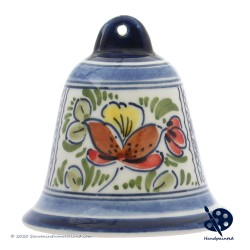 X-mas Bell 6,5cm - Flowers Diamond - Handpainted Delftware
