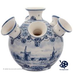 Round Tulipvase Windmill - Handpainted Delft Blue