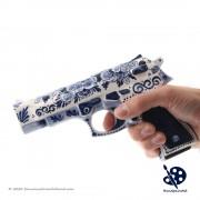 Handpistool op ware grootte...