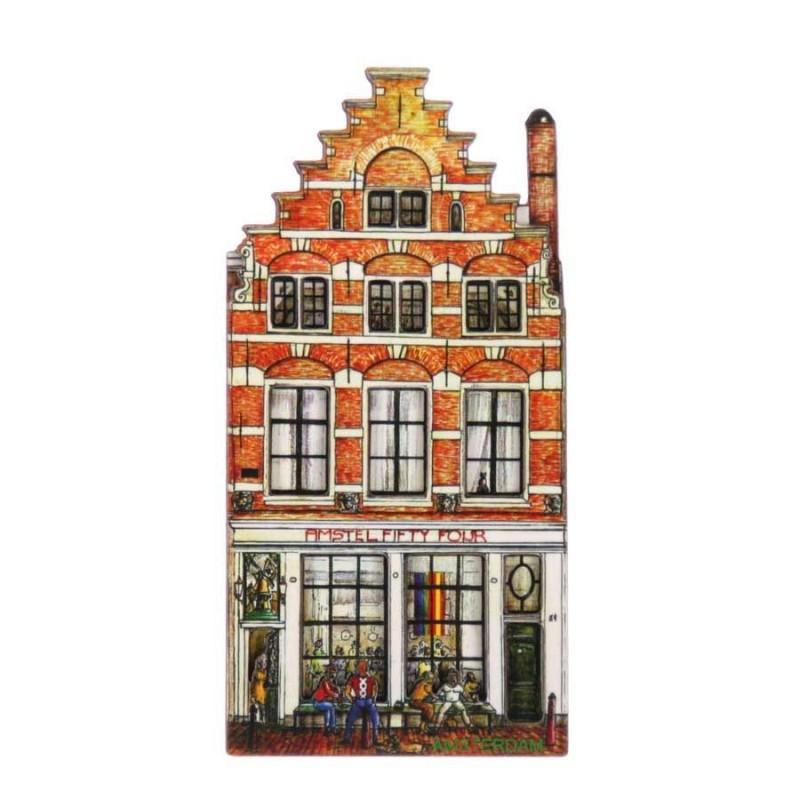 Grachtenhuizen 2D MDF Amstel Bar - Magneet - Grachtenhuis