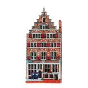 Grachtenhuizen 2D MDF Leeuwenburg - Magneet - Grachtenhuis