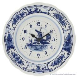 Wallplate Clock Large 28cm - Delft Blue