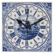 Tegelklok 15cm - Delfts Blauw