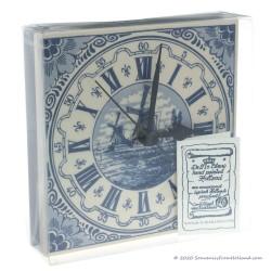 Tile Clock 15cm - Delft Blue