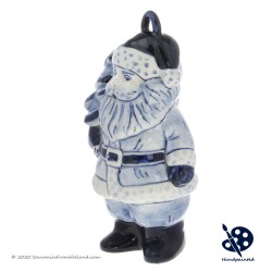 Luxury Santa Claus with Christmas Tree Ornament - Handpainted Delftware - Detailed