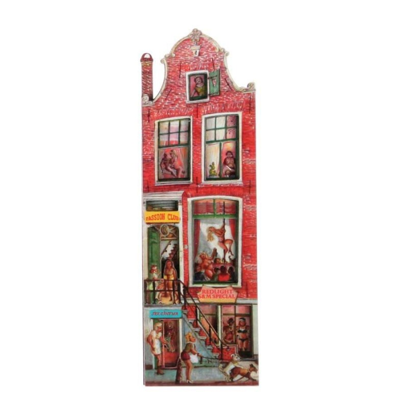 Grachtenhuizen 2D MDF Passion Club - Magneet - Grachtenhuis