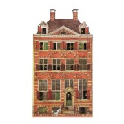 Grachtenhuizen 2D MDF Rembrandthuis - Magneet - Grachtenhuis