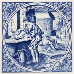 De Bakker - beroepentegel Jan Luyken - Delfts Blauw
