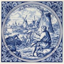 De Moolenaar - beroepentegel Jan Luyken - Delfts Blauw