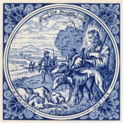De Jaager - beroepentegel Jan Luyken - Delfts Blauw