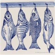 4 Fish on a hook - Tile...