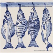 4 vissen aan een haak -...