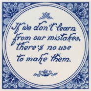 Inspirational tile - If we don't learn from our mistakes, there is no use to make them