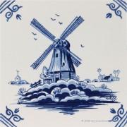 Molen - Delfts Blauwe Tegel...