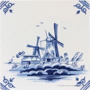 Twee Molens - Delfts Blauwe...