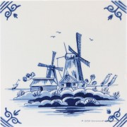 Two Windmills - Delft Blue...