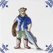 Fisherman - Delftware Tile...