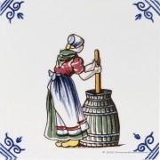 Churning Butter - Delftware...