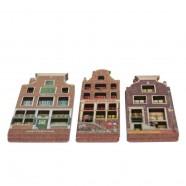 Grachtenhuizen 2D MDF Oudeschans - Magneet - Grachtenhuis