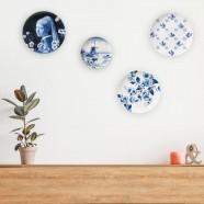 Delft Blue Wall Plate Windmill - 20cm