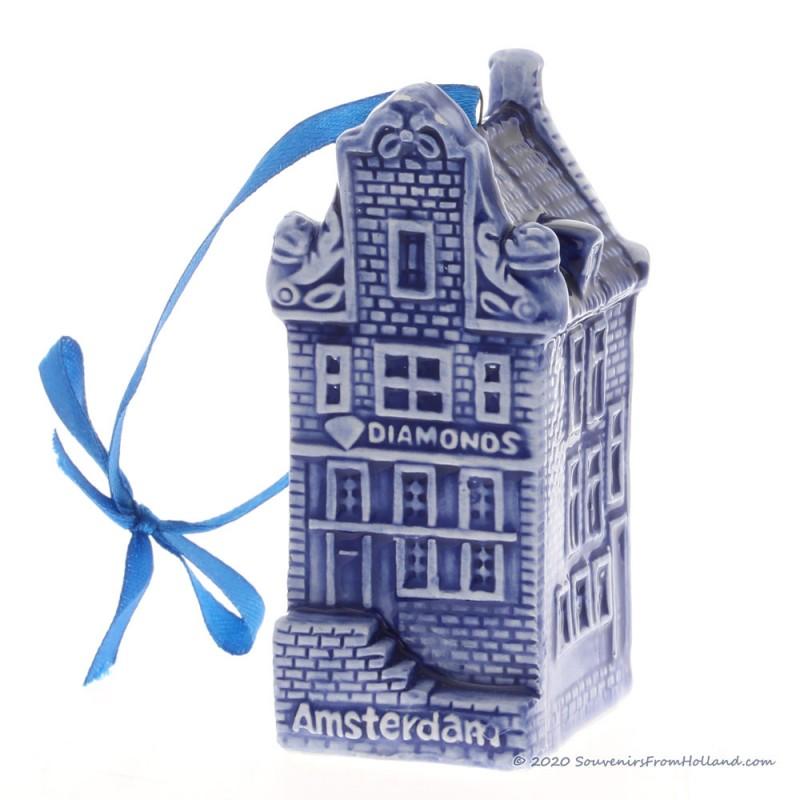 Canal house X-mas Pendant Delft Blue