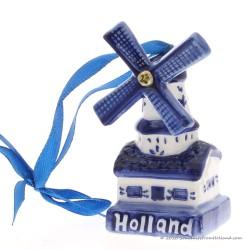 Windmill rotating wings X-mas Pendant Delft Blue