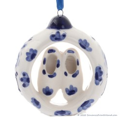 Ring with Clogs - X-mas Pendant Delft Blue