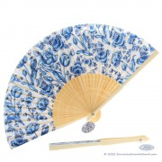 Hand fan with Delft Blue...