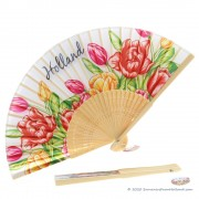 Hand fan with colorful...