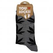 Socks Grey Cannabis - Size...