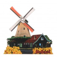Windmills 2D Windmill Reiger - with rotating sails - Magnet