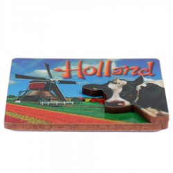 Holland Cow Windmill - Holland 2D Magnet