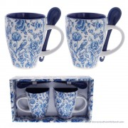 Set of 2 mugs with Spoon -...