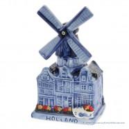 Muziekmolen Grachtenhuizen - Delfts Blauw - Keramiek