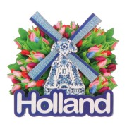 Holland Windmill Tulips - Holland 2D Magnet