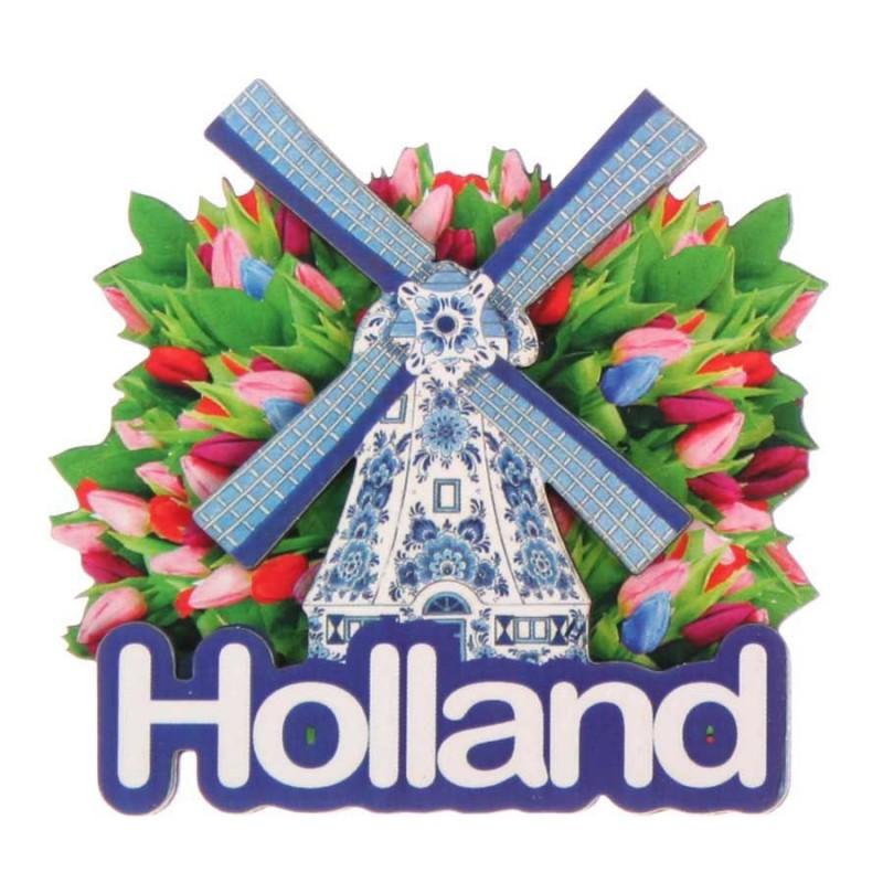 Molen Tulpen - Holland 2D Magneet