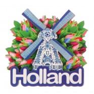 Holland Molen Tulpen - Holland 2D Magneet