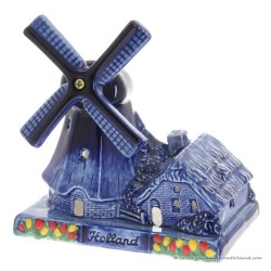 Windmill Candlelight 13 cm - Delftware Ceramic