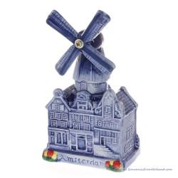 Windmill Canalhouses Medium - Delftware Ceramic