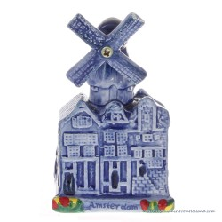 Windmolen Grachtenhuisjes klein - Delfts Blauw Keramiek