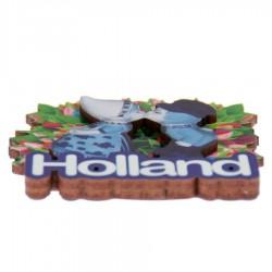 Kussend Paar Tulpen - Holland 2D Magneet