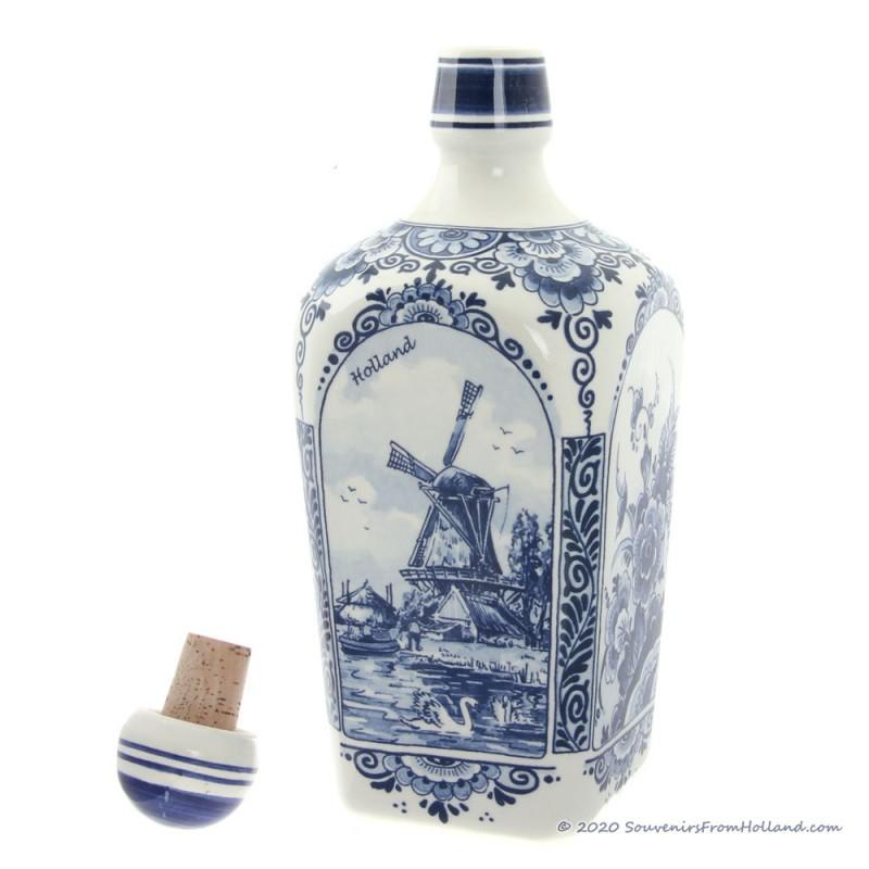 Liquor Jenever Bottle 23cm - Delftware