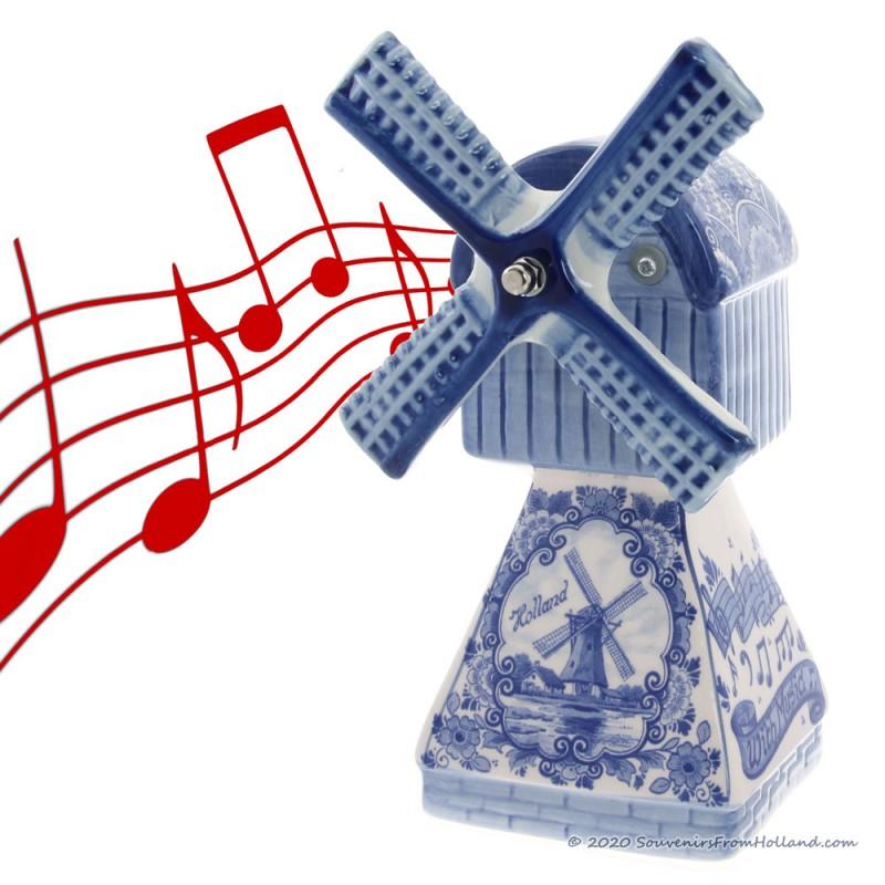 Music Windmill - Delft Blue 22cm