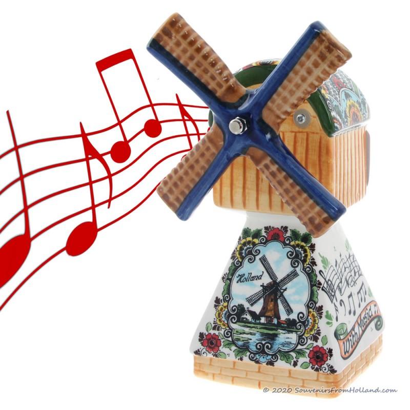 Muziekmolen - Polychrome 22cm