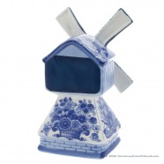 Music Windmill - Delft Blue 18cm