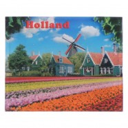 Holland Tulpenvelden Dorp - Holland 2D Magneet