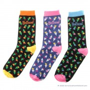 Socks small tulips 3-pack -...