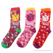 Socks tulips 3-pack - Size...