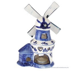 Windmolen Waxinelicht 17cm - Delfts Blauw Keramiek