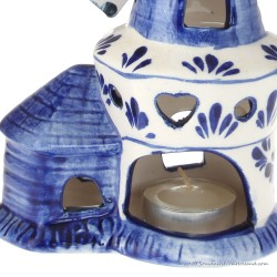 Windmill Candlelight 17 cm - Delftware Ceramic